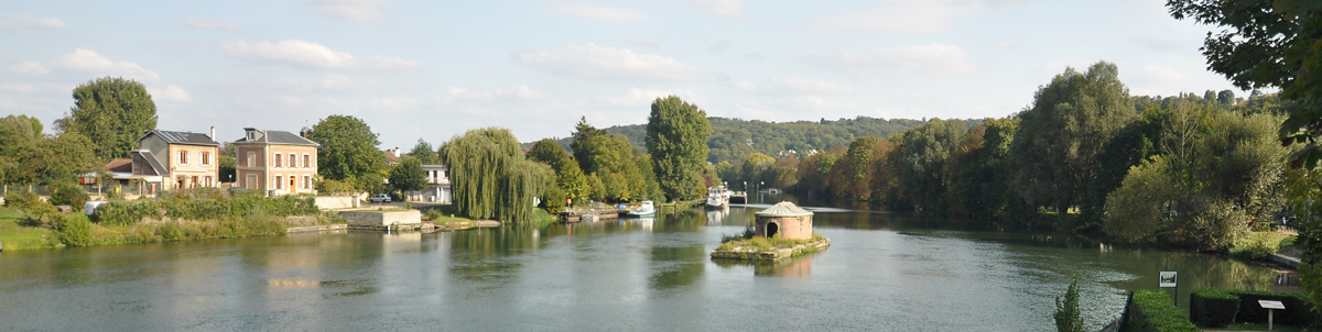 Berges de Seine, Bougival - CC by : Moonik - SA - 3.0